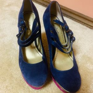 Used Blue and pink heels!